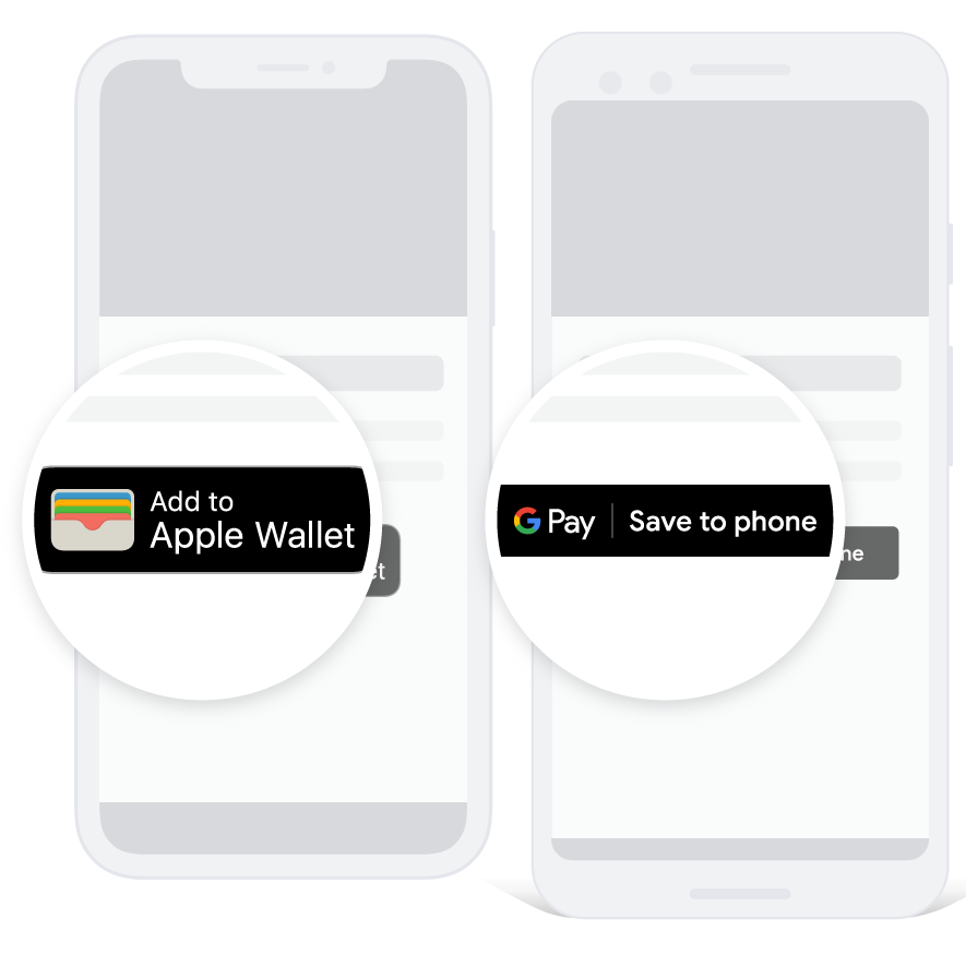 Integrate Passes into Apple Wallet and Google Pay